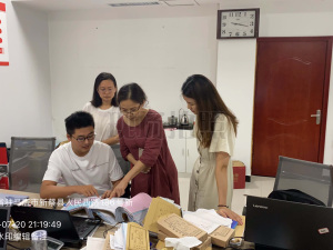 新蔡县法院领导干部经济责任审计组讨论交流审计思路