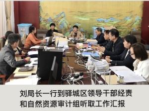 刘局长一行到驿城区领导干部经济和自然资源审计组听取工作汇报