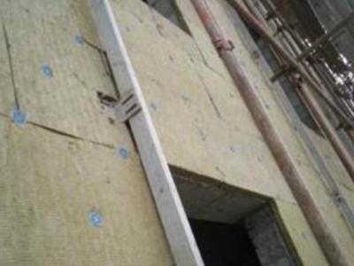 半岛名邸二期岩棉保温板安装现场