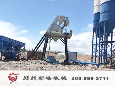 新疆喀什75混凝土攪拌站安裝現場