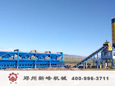 外蒙古hzs60混凝土攪拌站順利投產
