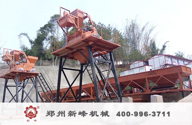 雙50混凝土攪拌站在云南寧洱投產運行S2.jpg