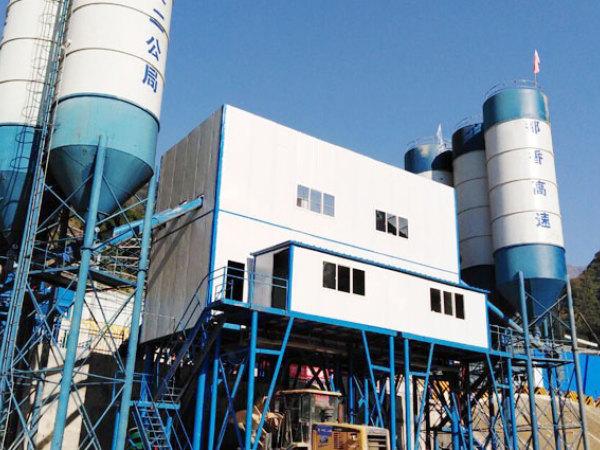 新型环保混凝土搅拌站在昆明昭通乐红大坝助力建设