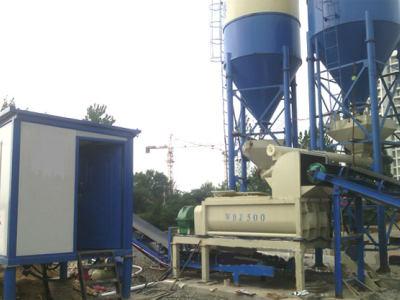 湖北蘄春wbz500水穩拌合站設備安裝現場
