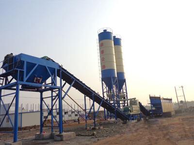 湖北蘄春二次合作500噸穩定土拌和站現場案例
