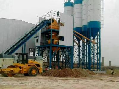 云南迪慶hzs120混凝土工程攪拌站建成