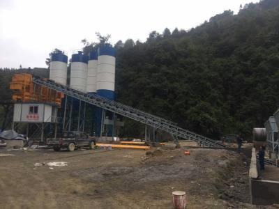 貴州凱里雙HZS60工程攪拌站設備安裝現場