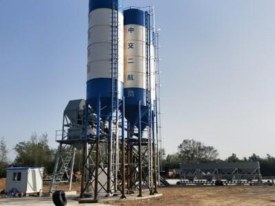 安徽蚌埠中交二局hzs60混凝土攪拌站施工現場