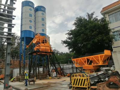 中鐵三局HZS75混凝土攪拌站廣東公司地鐵施工現場