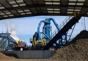 Scrap steel hammer crushing production line